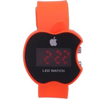 Apple Orange LED Digital Wrist Watch For Kids