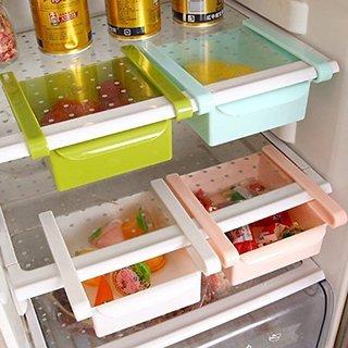 SNR Multi Purpose Plastic Storage Rack Organizer for Refrigerators (Color May Vary - 1 Piece)