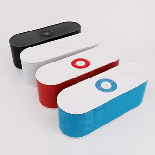 S207 Portable Bluetooth Speaker Mp3 Player With TF Card FM Aux USB Inbuilt Mic (Random any One Color)