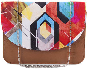 Meia Pop Art Watercolour Design Sling Bag