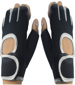 Faynci Leather Bike Riding /Sports / Gym / Weight Lifting / Cycling Gloves  for Boys, Men, Women.
