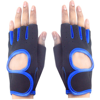 Faynci Bike Riding /Sports / Gym / Weight Lifting / Cycling Gloves  for Boys, Men, Women, color Blue.