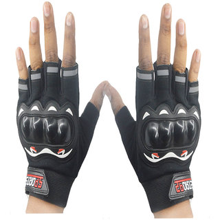 Faynci Sport Half Cut Gloves Black XL Size Driving Gloves (XL, Black)