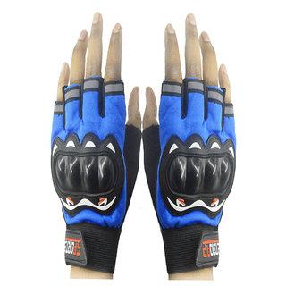 Faynci  SportHalf Cut Driving Gloves (XL, Blue)