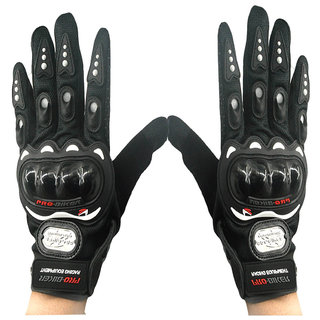 Motorcycle Riding Full Finger Driving Gloves (XL, Blue)