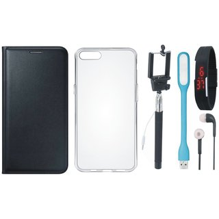 J5 Prime Cover with Silicon Back Cover, Selfie Stick, Digtal Watch, Earphones and USB LED Light