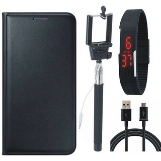 J5 Prime Cover with Selfie Stick, Digtal Watch and USB Cable