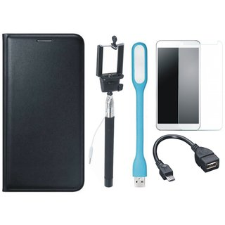 J5 Prime Cover with Free Selfie Stick, Tempered Glass, LED Light and OTG Cable