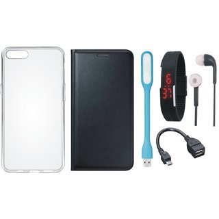 J5 Prime Cover with Silicon Back Cover, Digital Watch, Earphones, USB LED Light and OTG Cable