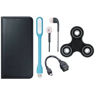 J5 Prime Cover with Spinner, Earphones, USB LED Light and OTG Cable