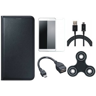 J5 Prime Cover with Spinner, Tempered Glass, OTG Cable and USB Cable