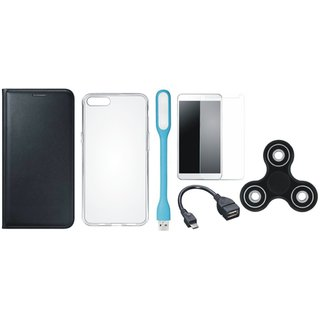 J5 Prime Cover with Spinner, Silicon Back Cover, Tempered Glass, USB LED Light and OTG Cable