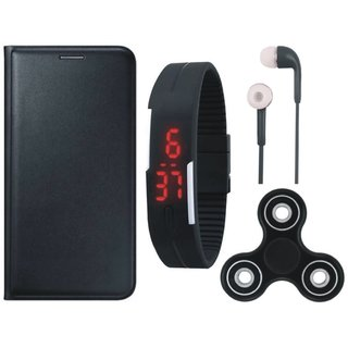 J5 Prime Cover with Spinner, Digital Watch and Earphones