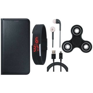 J5 Prime Cover with Spinner, Digital Watch, Earphones and USB Cable