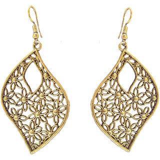 SKN Multicolour Party Fashion Dangle & Drop Antique Oxidised Earrings for Women & Girls (SKN-4017)