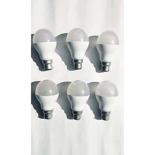 LED 7W Bulbs Combo Pack Of No 6 Pices Power Consumption of Electric Bills