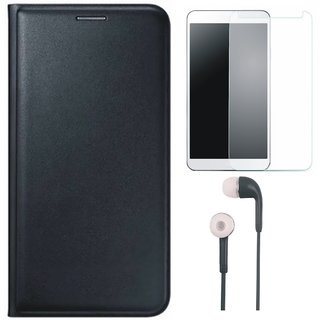 J7 Prime Stylish Cover with Tempered Glass and Earphones