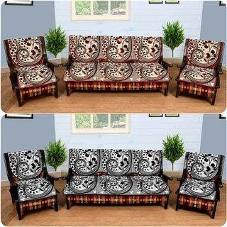 Manvi Creations Polycotton Sofa Cover Set of 2