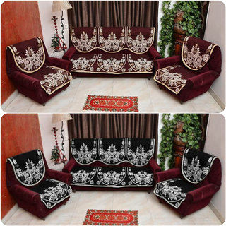 Manvi Creations Cotton Sofa Cover Set of 2
