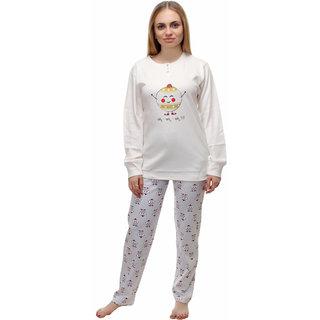KOTTY Women's Woolen Top and Pyjama Set