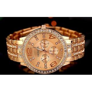 baca18dfc59 Buy Geneva Fashion Metal Chain Studded Watch for Women Online - Get 63% Off
