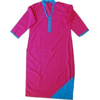 billshope pink cotton kurti for women