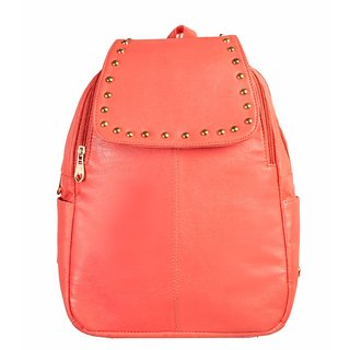 ebb8cf9b21a1 Buy Levise London Artificial Leather Dark Peach Color Backpack for Woman  Online - Get 77% Off
