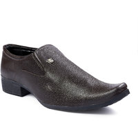 Woakers Men's Brown Formal Slip On Shoes