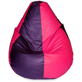 XXXL Size Bean Bag cover- Red Pink Color (Without Beans)