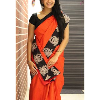 a2ea55670bfb0d Buy Indian Beauty Kalamkari Print Border With Kalamkari Blouse Saree Online    ₹899 from ShopClues