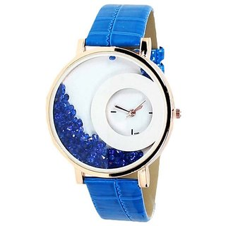 New Women Mxre Blue Diamond Party Wear Girls And Ladies Watches
