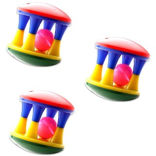 Mini Rattle Roller For Infants (pack of 3)