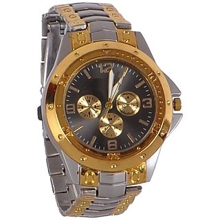 PMAX Rosra Golden Black Analog Watch FOR MEN