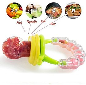 Wishkey Fresh Fruit Vegetables Food Nibbler Cum Rattle Teether