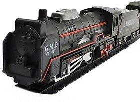 WishKey Black Plastic LED Super Train Set (13 Pieces) For Kids
