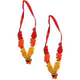 Beautifully Handcrafted Multicolor Flower Garland Mala For Idol-3 Inches, Mala for God, Pooja Mala