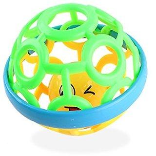 Wishkey Soft Plastic Baby Hand Roll Rattle Ball Toys