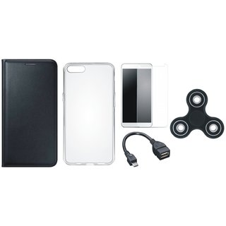 Coolpad Note 3 Cover with Spinner, Silicon Back Cover, Tempered Glass and OTG Cable