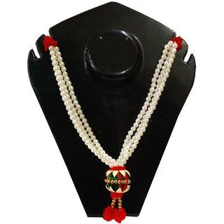 Artificial Flowers Moti Pooja Haar Mala For Idol-9 Inches, Mala for God, Pooja Mala