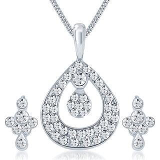 Rhodium Plated Pendant Set Sublime Australian Diamond by ShoStopper