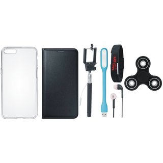 Coolpad Note 3 Lite Cover with Spinner, Silicon Back Cover, Selfie Stick, Digtal Watch, Earphones and USB LED Light