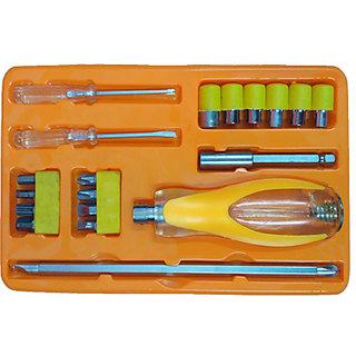 Ezzi deals 19 pcs screw driver set , life assistant tools ,  Screwdriver Socket  Bit Tool Kit Set For Home  Office