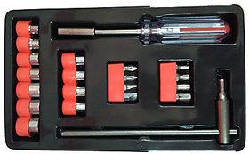 Ezzi deals 21 pcs screw driver set , life assistant tools ,  Screwdriver Socket  Bit Tool Kit Set For Home  Office