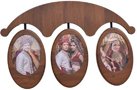 WOODEN HANGING PHOTO FRAME OF SIZE (6 BY 8) SET OF 3 PIC
