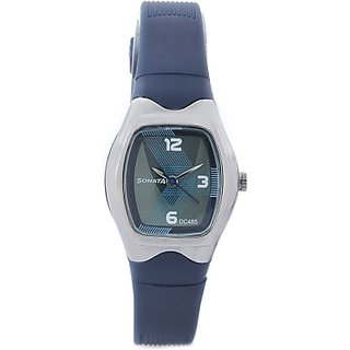 Sonata Quartz Blue Round Women Watch 8989PP02