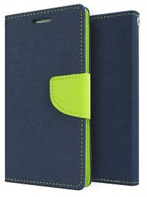 Mercury Flip Cover For Samsung J3 Blue