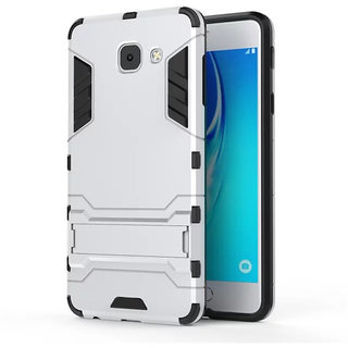 Samsung Galaxy J7 Max Robotic Back Cover.Kickstand Hard Dual Rugged Armor Hybrid Bumper Case