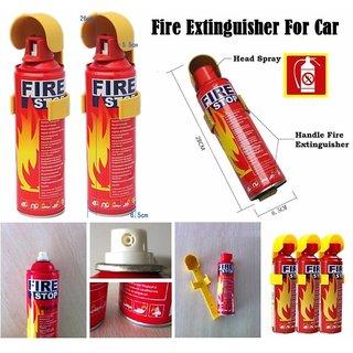 Fire Stop -(Set of 3 Pcs) Portable Spray Safety - Flame Retardant Fuild - Fire Extinguisher