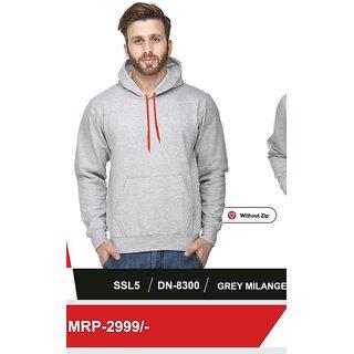 100ANB Mens Grey Hooded Sweatshirts