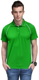 100ANB Men's Green Polo Collar T-shirt